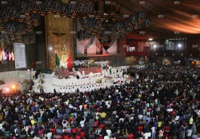 Miles de peregrinos cantan Las Mañanitas a la Virgen de Guadalupe