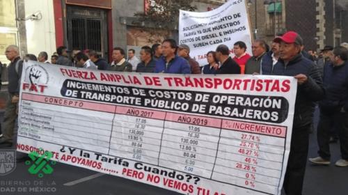 VA DE NUEZ: TRANSPORTISTAS PIDEN AL GOBIERNO CDMX UN INCREMENTO EN LA TARIFA DEL SERVICIO