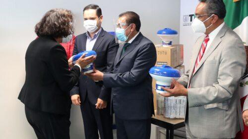 Entrega COEPRIST insumos para la desinfección de agua en escuelas de educación básica