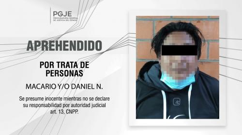 En Tenancingo captura PGJE a imputado por trata de personas